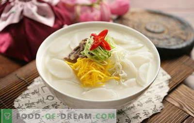 Zuppa coreana - fragrante, calda e potente! Ricette di zuppe coreane: con daikon, frutti di mare, noodles, cavoli, tofu