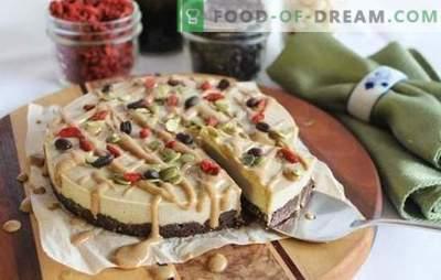 Torta di cibi crudi - dolce con il bene. Ricette per dolci crudi a base di frutta secca e secca