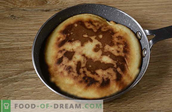 Pancakes sul latte: versione americana asciutta delle solite frittelle! Ricetta fotografica dettagliata dell'autore di pancake sul latte - semplice yummy