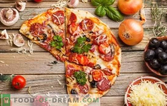 La pizza con pomodori, salsiccia e formaggio è un piatto universale per tutte le occasioni. Le migliori ricette per una pizza appetitosa con pomodori, salsiccia e formaggio