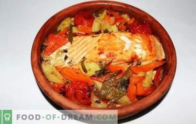 Salmone rosa con verdure - ospite d'onore sul tavolo. Le migliori ricette di salmone rosa diverso con verdure: al forno, in umido, in gel