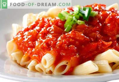 Salsa per pasta, riso, purè di patate, polpette di carne - le migliori ricette. Cucinando correttamente carne, pomodoro, funghi, salsa di pollo.