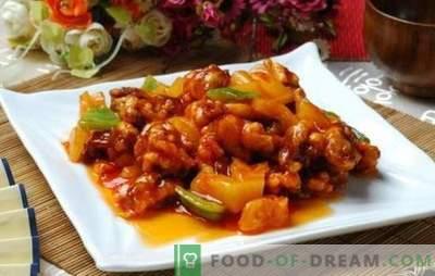La carne in salsa agrodolce in cinese è una leggenda! Ricette di carne in salsa agrodolce cinese con ananas, verdure, teriyaki