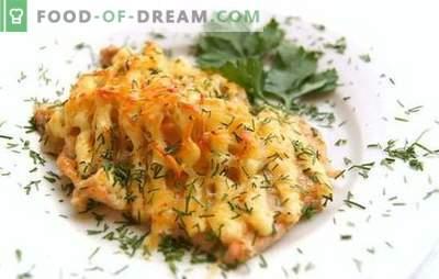 Il pesce sotto la maionese nel forno è un piatto senza pretese! Ricette per la maionese al forno in forno con patate, formaggio, verdure varie