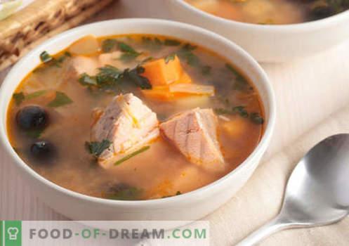 Minestre gobbe - ricette collaudate. Come cucinare correttamente e gustoso zuppa di salmone rosa.