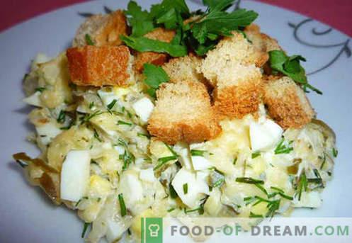 Insalata con cetriolo sottaceto - ricette collaudate. Come correttamente e gustoso per preparare un'insalata con sottaceti.