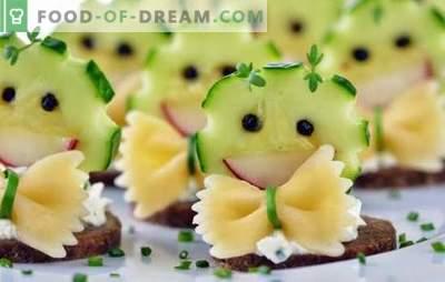 Snack per bambini per la festa più brillante e divertente! Le migliori ricette per antipasti Compleanno e altre festività