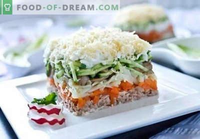 Insalata di salmone rosa in scatola - una selezione delle migliori ricette. Come cucinare correttamente e gustosa insalata di salmone rosa in scatola.