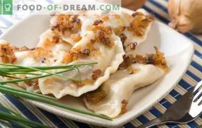 Lenten dumplings - cook at least every day! Various options of fillings for lean dumplings: sweet and salty