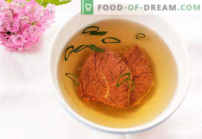 Beef broth - the best recipes. How to cook and beef broth.