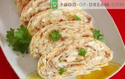 Pita di fegato di merluzzo: uno spuntino veloce per tutte le occasioni. Opzioni giornaliere e festive di pane pita con fegato di merluzzo