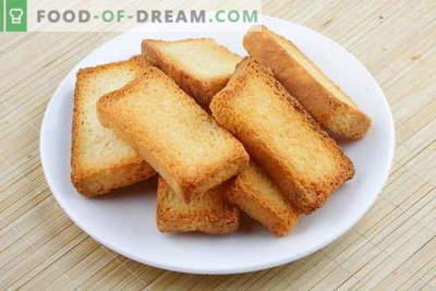 Pane tostato: le migliori ricette. Come per pane tostato ben cotto e gustoso.