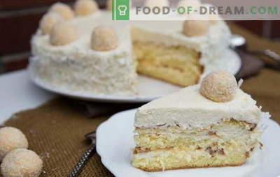 Incredibile torta Raffaello: ricette a casa. Tutti i segreti e le sottigliezze di fare torta Raffaello a casa