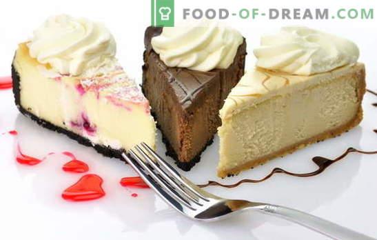 Cheesecake Cake: recettes originales pour faire un dessert sucré. Gâteau au fromage de leurs propres mains: à partir de biscuits, crème, fromage cottage, fromage