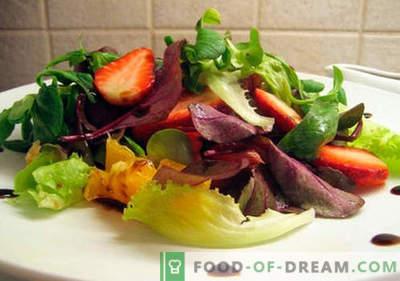 Insalata con aceto balsamico - ricette collaudate. Come cucinare un'insalata con aceto balsamico.