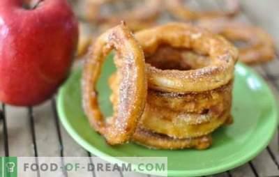 Mele in pastella - dessert deliziosamente delizioso. Le migliori ricette per le mele in pastella da diversi tipi di impasto: delicatezza con benefici!