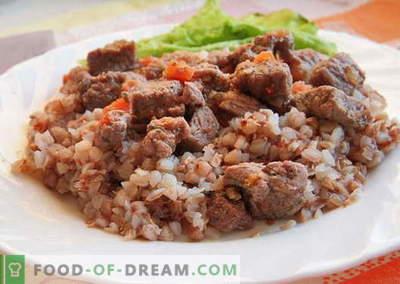 Hrișcă cu carne - cele mai bune rețete. Cum să gătești în mod corect și gustos hrișcă cu carne.