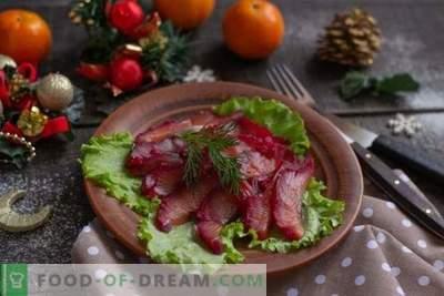 Antipasto di pesce scandinavo - barbabietola gravlax