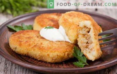 Patate zrazy con carne - un piatto ideale per lo spuntino. Ricette di patate zraz con carne: al forno e in padella