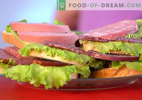 Sanduíches de salsicha são as melhores receitas. Como rapidamente e saboroso cozinhar sanduíches com salsicha.