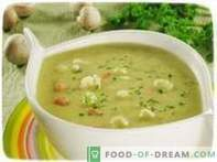 Zuppa di purea di cavolfiore.