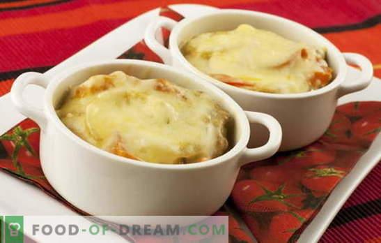 Patate al formaggio - una bacchetta magica. Ricette di patate con formaggio: funghi, verdure, carne