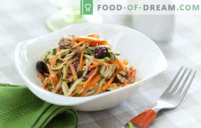 L'insalata di carote con noci è un trattamento luminoso e sano. Le 10 migliori ricette per insalate con carote e noci