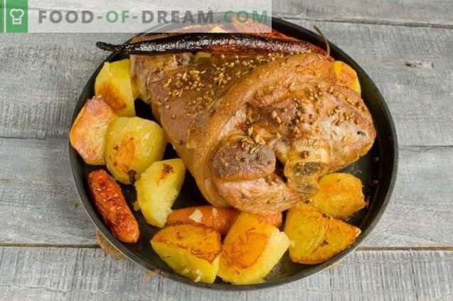 Knuckle com batatas - uma receita simples para uma mesa festiva