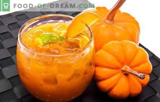 La confettura di zucca con l'arancia è un'utile prelibatezza. Opzioni marmellata di zucca con arancia e limone, albicocche secche, olivello spinoso, noci