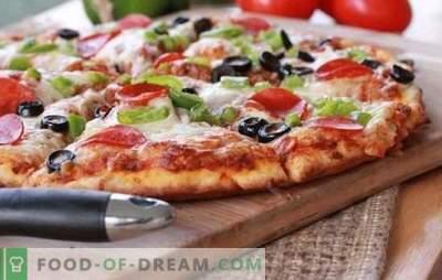 Una veloce ricetta per la pizza al forno: una cena veloce. Varianti di pizza veloce al forno con diversi ripieni: su pane pita o su baguette