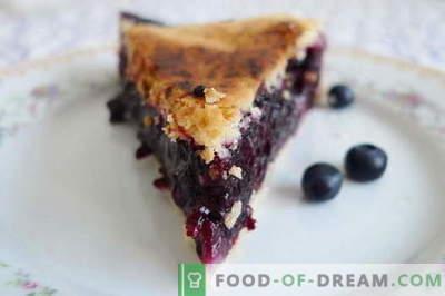 Torta ai mirtilli - le migliori ricette. Come cucinare correttamente e gustoso torta di mirtilli.