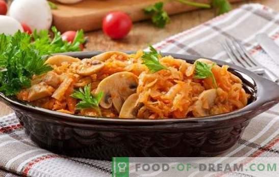 I piatti di Quaresima con funghi sono un ottimo sostituto per la carne. Ricette di vari piatti di lenticchie con funghi: insalate, zuppe, bigus, casseruole