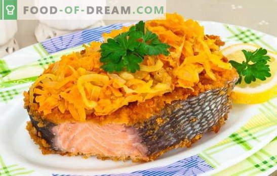 Classici di pesce: salmone rosa con carote. Per tutti gli amanti del pesce rosso - le migliori ricette di salmone rosa con carote