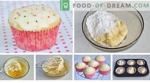 Cupcakes - come cucinarli a casa. 7 migliori ricette dolcetti fatti in casa.