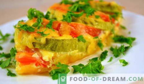 Squash con formaggio - le migliori ricette. Come cucinare correttamente e gustose zucchine con formaggio.