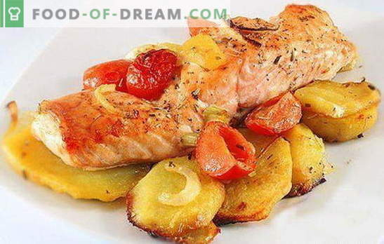 Pesce rosso con patate - una combinazione di nobiltà e semplicità. Ricette di pesce rosso con patate: in fogli, forno, in una padella