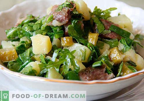 Insalata con cetrioli sottaceto - una selezione delle migliori ricette. Come correttamente e gustoso per preparare un'insalata con cetrioli sottaceto.