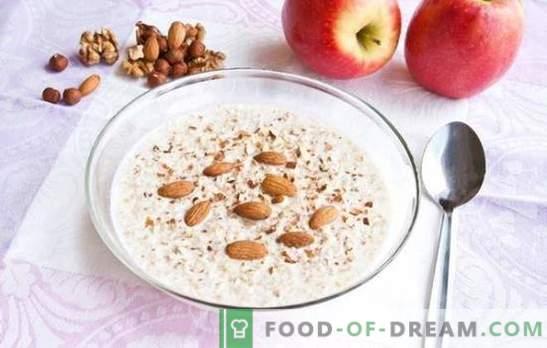 porridge di grano saraceno liquido - utilizzare in ogni cucchiaio. Una selezione delle migliori ricette per il porridge di grano saraceno liquido con banane, frutta secca, mele