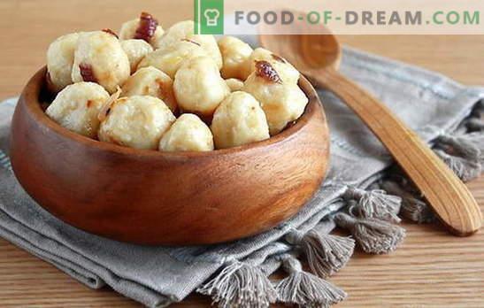 Gnocchi pigri con patate: ingredienti base, principi di cottura. Ricette deliziose gnocchetti pigri con patate