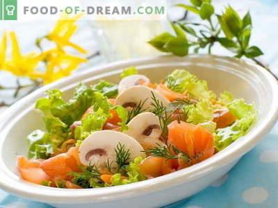 Insalata con pesce rosso - ricette collaudate. Come cucinare un'insalata con pesce rosso.