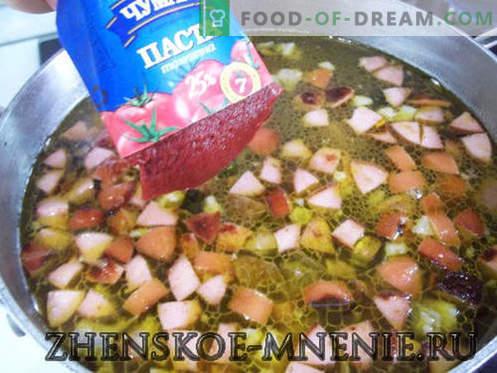 Solyanka - una ricetta con foto e descrizione passo passo
