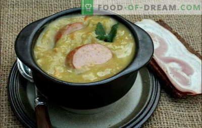 Zuppa olandese: un sacco di gusti! Ricette di diverse zuppe olandesi: piselli, verdure e carne, con polpette di carne e pancetta
