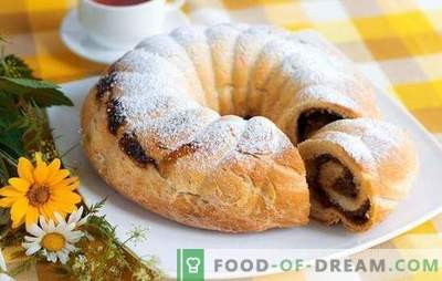 Roll con uvetta - per la tavola di tutti i giorni e festosa. Le migliori ricette per involtini con uvetta: lievito, sabbia, sfoglia, biscotto