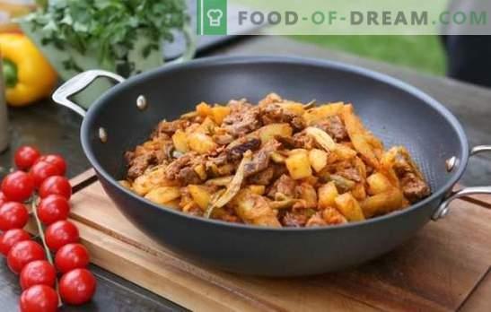 Azu in tataro: in un calderone, in più pentole o in una pentola. Ricette tartar di Azu con sottaceti, patate, maiale, agnello