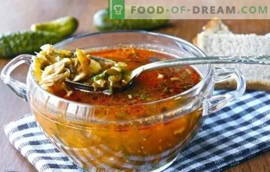 Pickle senza orzo - nuove versioni del piatto familiare. Ricette sottaceto senza orzo con altri cereali e verdure