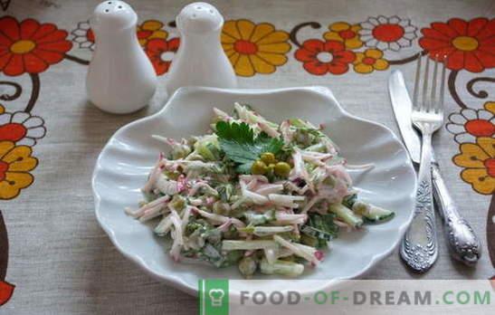 Incontro: deliziose e semplici insalate in fretta! Ricette insalata semplice per i giorni feriali e festivi