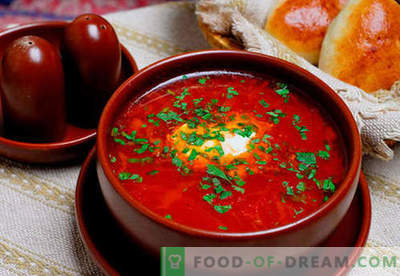 Borsch green, red, lean, Ukrainian - the best recipes. How to properly and tasty cook soup with beans, mushrooms, sorrel in a slow cooker.