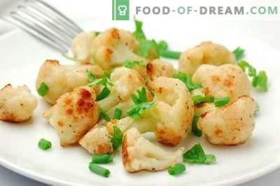Cavolfiore nel forno - le migliori ricette. Come cucinare correttamente e gustoso nel cavolfiore al forno.