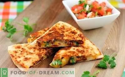La tortilla con formaggio è un appetitoso burrito! Cucinare a casa tortilla messicana con formaggio usando ricette semplici