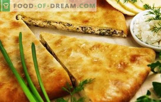torte osseziane con formaggio e verdure - quel gusto insolito! Ricette torte osseziane con formaggio ed erbe di pasta diversa